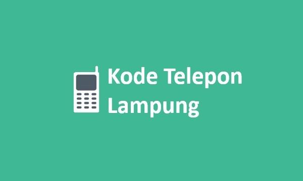 kode area telepon lampung