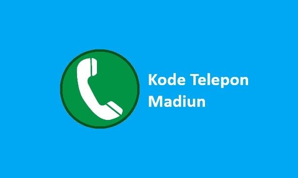 kode area telepon madiun